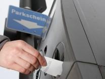 Parkscheinautomat in München, 2010