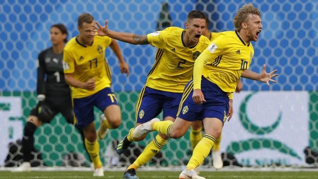 Fußball-WM Emil Forsberg bei der Fußball-WM