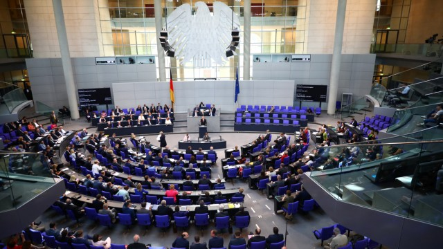 Budget debate at the lower house of parliament Bundestag in Berlin