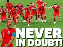 Titelseite der Metro: Englands Presse feiert den WM-Sieg gegen Kolumbien