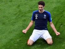 Benjamin Pavard 2018 beim WM-Spiel Frankreich gegen Argentinien
