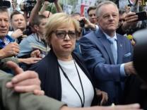 Polens Oberste Richterin Malgorzata Gersdorf 2018 in Warschau
