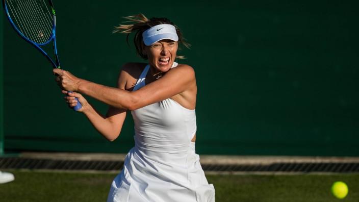 LONDON ENGLAND JULY 03 MARIA SHARAPOVA RUS during day two match of Wimbledon on July 3 2018