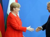 Bundeskanzlerin Merkel empfängt Orban