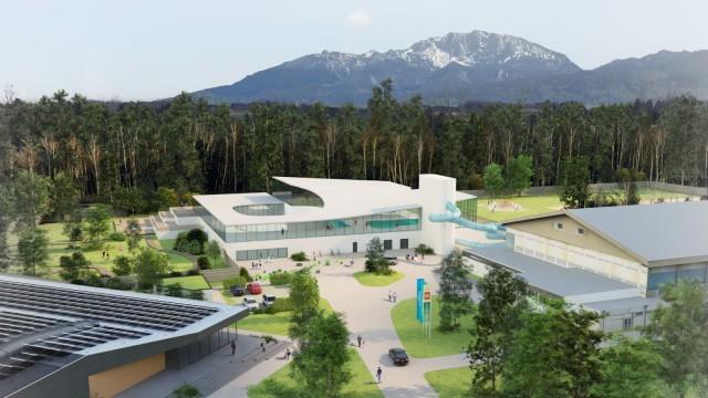Neues Hallenbad Penzberg Plan außen
