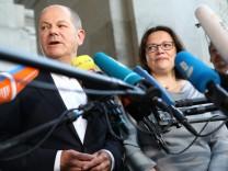 Koalitionsausschuss SPD Einigung Scholz Nahles