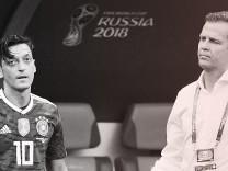 DFB: Mesut Özil und Oliver Bierhoff beim WM-Spiel gegen Südkorea