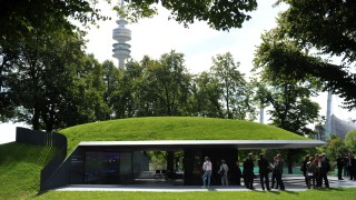 """Erinnerungsort """"Einschnitt"""" für die Opfer des Olympia-Attentats in München, 2017"""