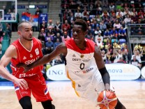 Deutschland Frankfurt am Main Fraport Arena 23 02 2018 Basketball WM Qualifikationsspiel Deu; Isaac Bonga