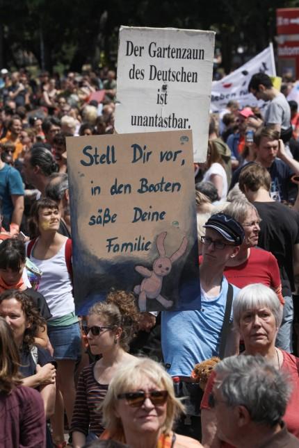 Demonstration für Flüchtlinge