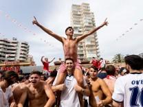 Spain feature FIFA World Cup 2018, Magaluf - 07 Jul 2018