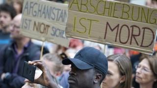 Demonstration gegen Abschiebung von Flüchtlingen in Ausbildung in München, 2017