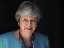 Großbritanniens Premierministerin Theresa May 2018 in London