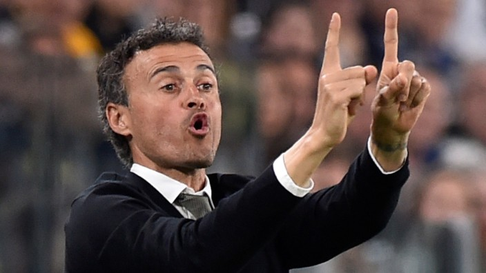 FILE PHOTO: Former Barcelona coach Luis Enrique during Champions League match against Juventus in Turin, Italy - 11/4/17
