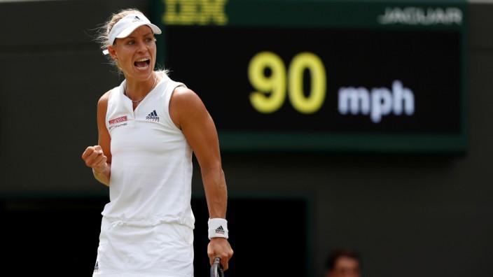 Angelique Kerber in Wimbledon beim Spiel gegen Belinda Bencic