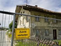 Halbsperrung Münchnerstr. wg. Einsturzhaus