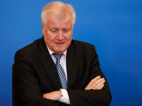 "Bundesinnenminister Horst Seehofer (CSU) vor der Präsentation des ""Masterplan Migration"" in Berlin."
