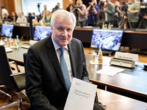 "Bundesinnenminister Horst Seehofer bei der Präsentation des ""Masterplans Migration"" in Berlin"