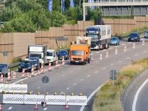 Sperrung der A6 wegen Brückenabriss