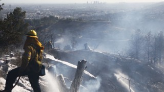 Brush Fire Breaks Out In L.A.'s Griffith Park