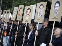 Urteilsverkuendung NSU Prozess Angehoerige der Opfer der rechtsextremen Terrorgruppe NSU und Unters
