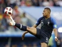 Kylian Mbappe beim WM-Spiel gegen Belgien