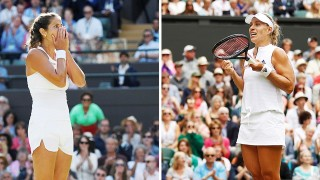 Julia Görges und Angelique Kerber 2018 in Wimbledon