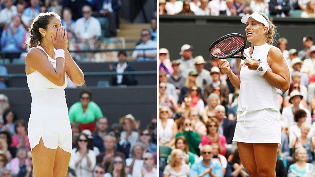 Julia Görges und Angelique Kerber 2018 in Wimbledon