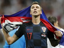 Mario Mandzukic nach dem WM-Halbfinale Kroatien gegen England