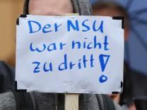 Kundgebung in Rostock anlässlich des Urteils im NSU-Prozess