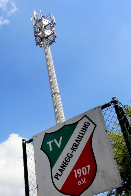 Handymast auf dem Kraillinger TV-Gelände