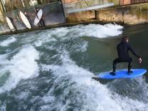 Surfer an der Münchner Dianabadschwelle, 2018