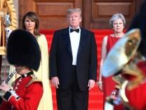 US-Präsident Donald Trump zu Gast bei Großbritanniens Premierministerin Theresa May