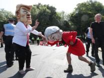US-Präsident Trump in Großbritannien - Protest
