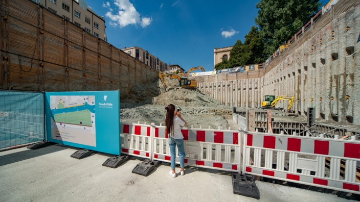 Baustelle am Thomas-Wimmer-Ring