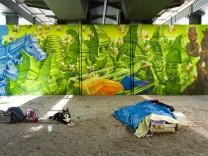 Graffitikunst am Kolumbusplatz in München, 2018