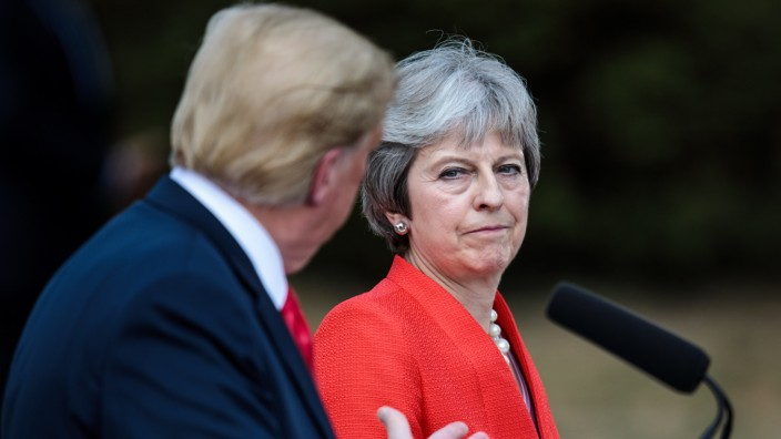 President Donald Trump And British Prime Minister Theresa May Hold Bi-lateral Talks At Chequers