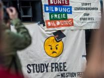 Protestaktion gegen Studiengebühren in Stuttgart