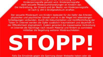Internetsperre Anti-Kinderporno-Gesetz