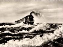Deutsche Eisenbahn Lokomotive Hindenburgdamm nach Sylt AUFNAHMEDATUM GESCHÄTZT