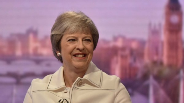 Britain's Prime Minister, Theresa May, appears on the BBC's Andrew Marr Show in London