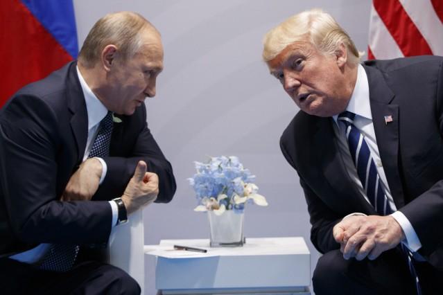 G20-Gipfel in Hamburg - Putin und Trump