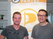 Piraten Piratenpartei Landtagswahl 2018 Landtagskandidat Oliver Welter Bezirkstagskandidat Michael Purkart