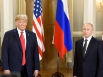 Donald Trump und Wladimir Putin beim Gipfeltreffen in Helsinki 2018