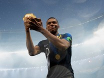 Kylian Mbappé nach dem WM-Finale 2018 Frankreich gegen Kroatien