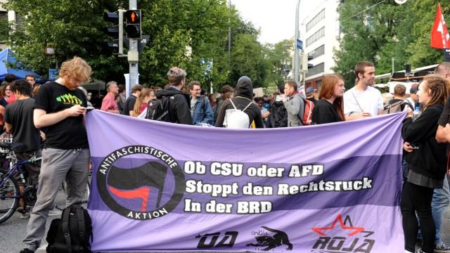 Demonstration in München am Tag des Urteils im NSU-Prozess, 2018