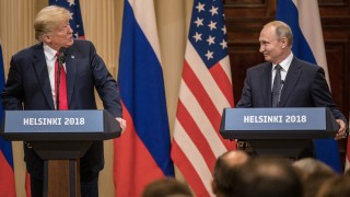 President Trump And President Putin Hold A Joint Press Conference After Summit