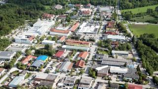 Bruck: Luftbilder HOCHWASSER - Gewerbegebiet Hubertusstrasse / Zadarstrasse