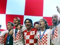 Empfang der kroatischen Mannschaft