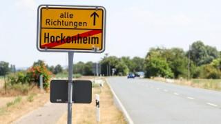 Ortsausgangsschild von Hockenheim